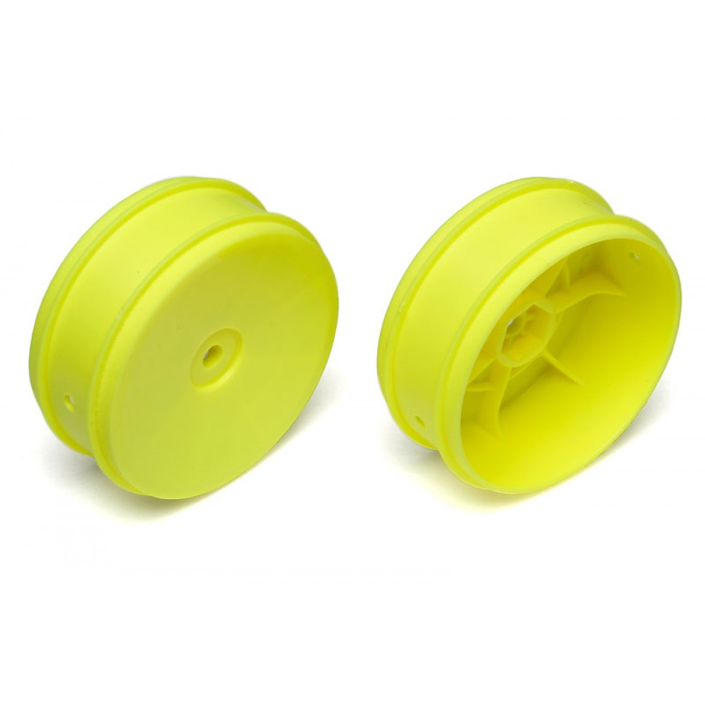 """TEAM ASSOCIATED AS91573 61MM BUGGY FRONT 2WD WHEEL HEX 12MM YELLOW FOR 2.4"""" VTR TYPE"""