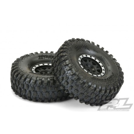"Proline PL10128-13 Hyrax 1.9"" G8 Tyres on Impulse Blk/Silv B/Lock Wheels"