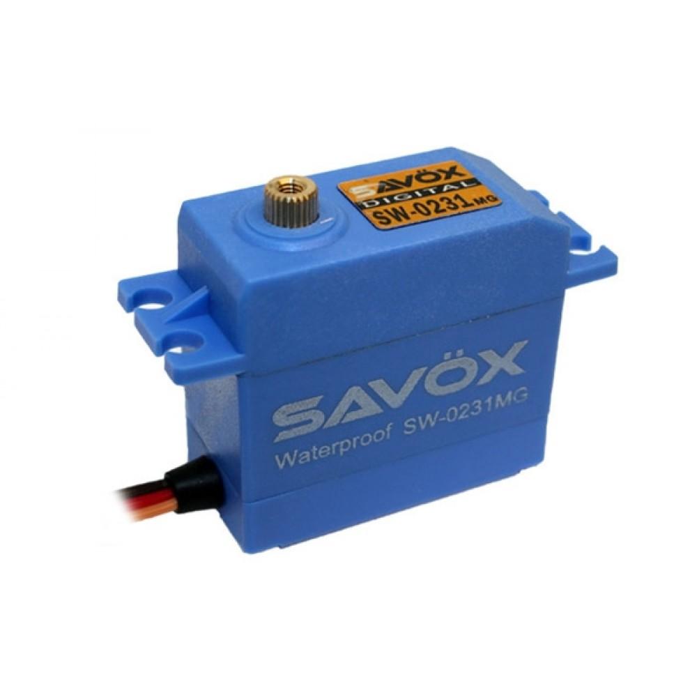 Savox SW0231MG Waterproof Digital Servo 15Kg/0.17S