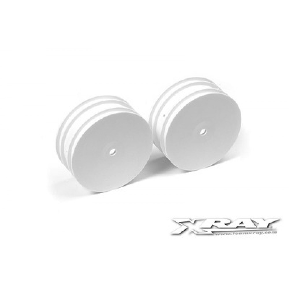 XRAY XR369910 4WD FRONT WHEEL AERODISK WITH 14MM HEX - WHITE - V2 (2)