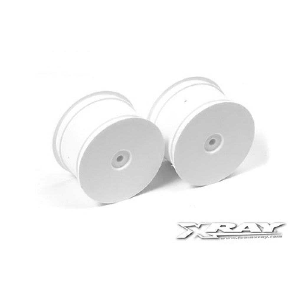 XRAY XR369911 4WD REAR WHEEL AERODISK WITH 14MM HEX - WHITE (2)
