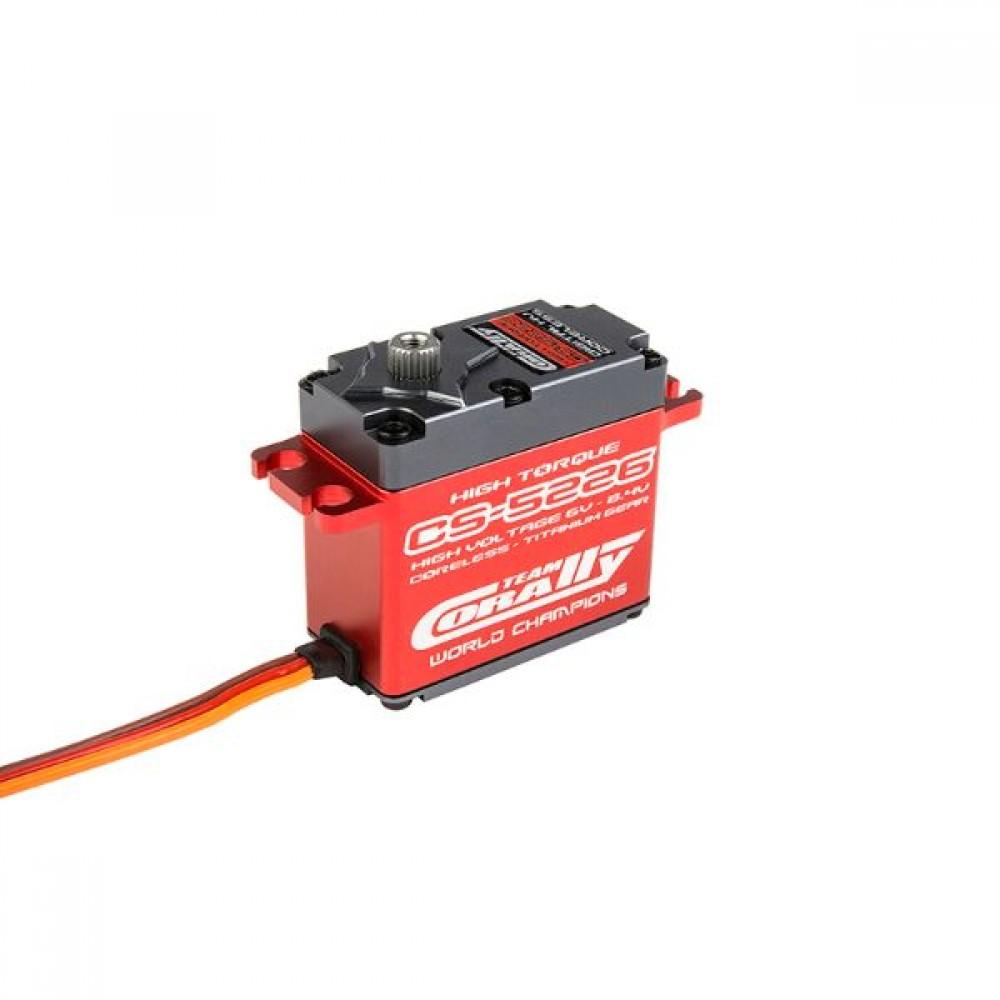 CORALLY C52001 CS-5226 - High Voltage High Torque servo - coreless, titanium gears, alloy case (0.08s/22.6kg @ 7.4v)