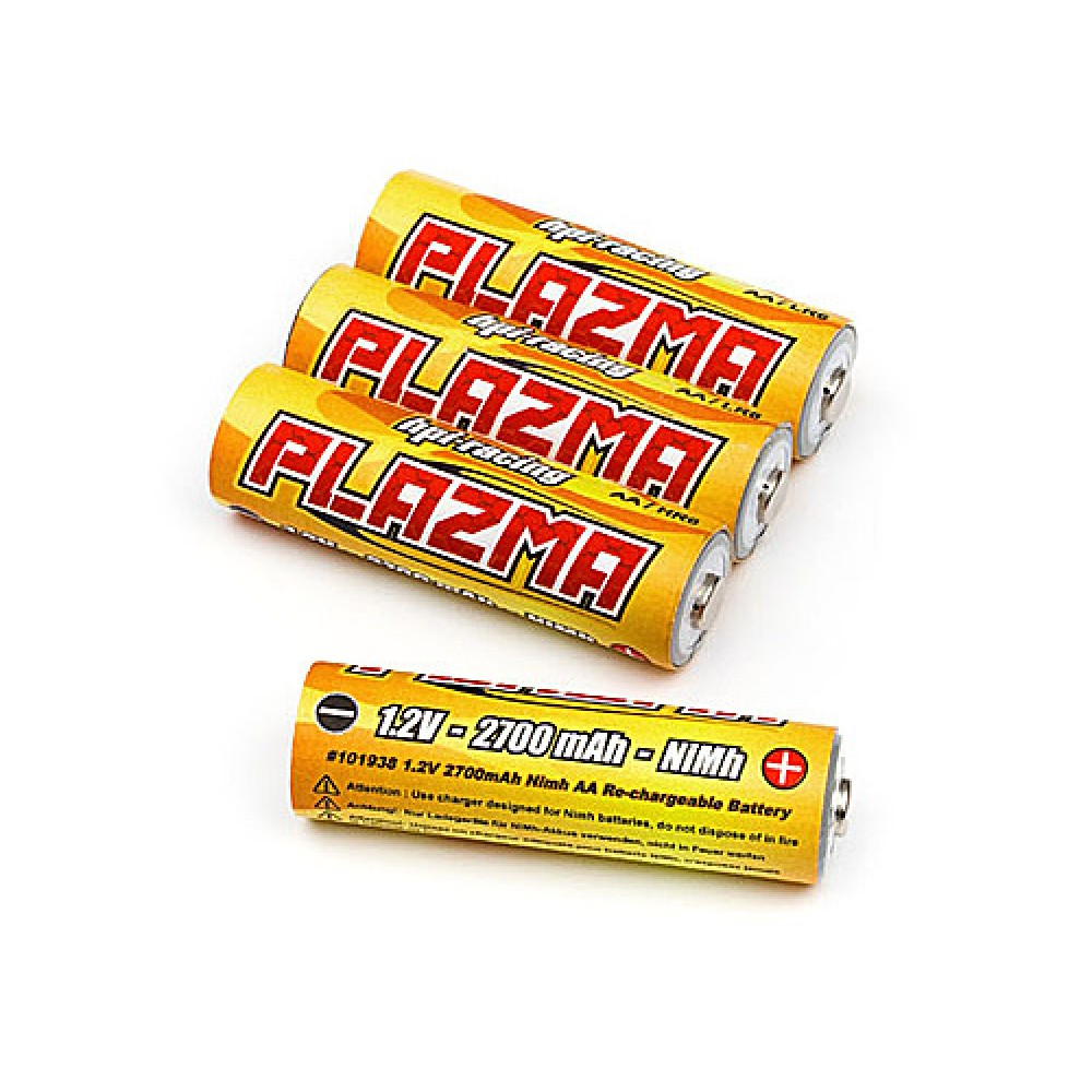 HPI 101938 Plazma 1.2V 2700mAh Nimh AA Re-Chargeable Battery (4Pcs)