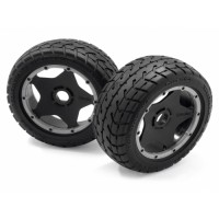 HPI MOUNTED TARMAC BUSTER RIB TIRE M COMPOUND (FRONT)