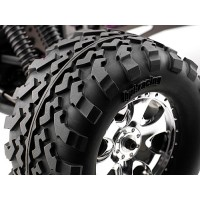 HPI MOUNTED GT2 TYRE S COMPOUND ON WARLOCK WHEEL CHROME