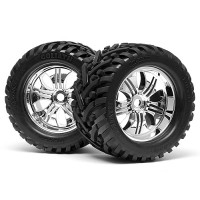 HPI MOUNTED GOLIATH TIRE 178x97mm on TREMOR WHEEL CHROME