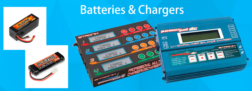 batteries and chargers for RC Cars